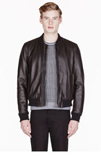 RAG & BONE Black pebbled leather JENNER JACKET for men