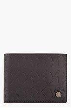 RAG & BONE Black leather dagger-patterned BI FOLD WALLET for men
