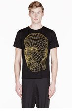 CHRISTOPHER KANE YELLOW BIG FACE DIGITAL printed t-shirt for men