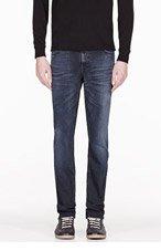 NUDIE JEANS Indigo organic Thin Finn jeans for men