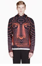 CHRISTOPHER KANE RED TRAIN FACE HOODIE for men