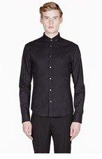 MCQ ALEXANDER MCQUEEN Black classic button-down shirt for men