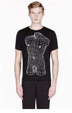 CHRISTOPHER KANE Black geometric male nude print t-shirt for men