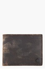 RAG & BONE Brown leather weathered HAMPSHIRE BI FOLD WALLET for men