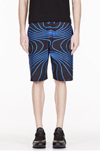 CHRISTOPHER KANE BLUE TRAIN FACE Cut-off shorts for men
