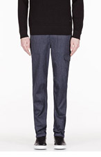RAG & BONE Navy FATIGUE Trousers for men