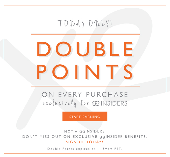 Double Points Today Only