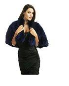ADRIENNE LANDAU - Navy Fur Cape