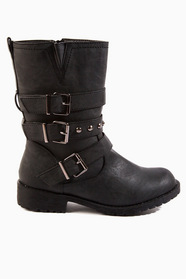 Triple Buckle Boots