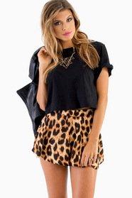 Flouncy Leopard Shorts