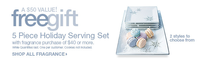 Free Gift - 5 Piece Holiday Serving Set