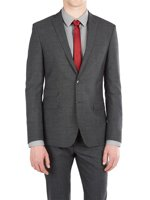 Two Button Textured Weave Suit Jacket