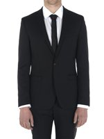 One Button Plain Wool Suit Jacket
