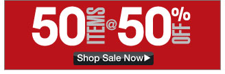 50 items at 50 percent off - click the link below