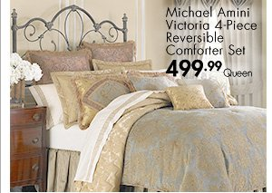 Michael Amini Victoria 4-Piece Reversible Comforter Set 499.99 Queen