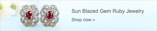 Sun Blazed Gem Ruby Jewelry