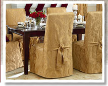 Matelasse dining chair covers