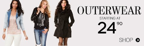 Shop Outerwear from $24.90