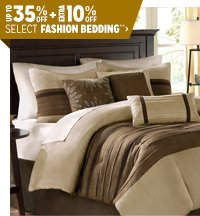 Up to 35% off + Extra 10% off Select Fashion Bedding**