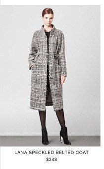 Lana Speckled Belted Coat