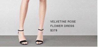 Velvetine Rose Flower Dress