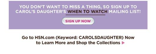 Carol's Daughter Sign up