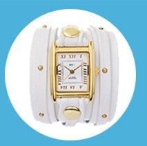 White Gold Stud Wrap Watch