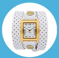 White Perforated Wrap Watch