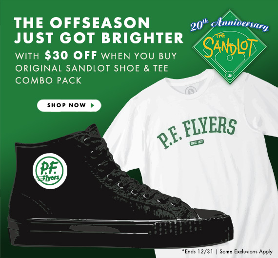 $30 OFF Sandlot Shoe and Tee Combo