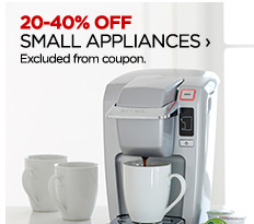 20-40% OFF SMALL APPLIANCES ›