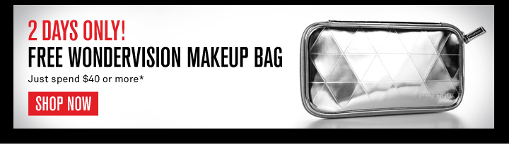 2 days Only! Free Makeup Bag
