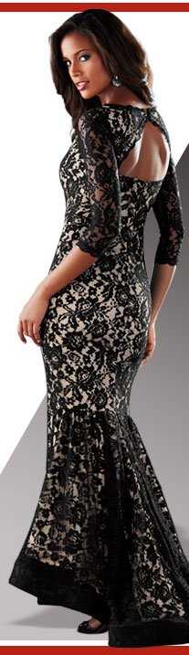 Be Party-Gorgeous! Stunning Long Lace Dress just $119