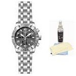 Invicta 11458 Men's Pro Diver Grey Textured Dial Stainless Steel Chronograph Watch with Ultimate Watch Care Kit