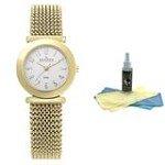 Skagen 107SGG1 Women's Denmark Mesh Bracelet Watch with 30ml Watch Cleaning Kit
