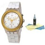 Swatch SVCK4068AG Women's Full-Blooded Marvelous Chronograph Watch with 30ml Ultimate Watch Cleaning Kit