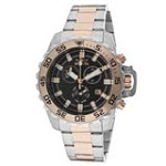 Invicta 13628 Men's Specialty Pro Diver Black Dial Two Tone Steel Bracelet Chronograph Watch
