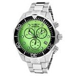 Invicta 11494 Men's Grand Diver Green Dial Stainless Steel Bracelet Chronograph Dive Watch