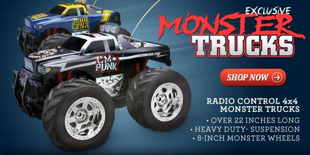 Exclusive Monster Trucks!
