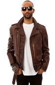 The 626 Motorcycle Jacket in Antique Brown Leather