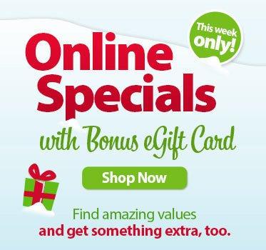 Bonus eGift card specials