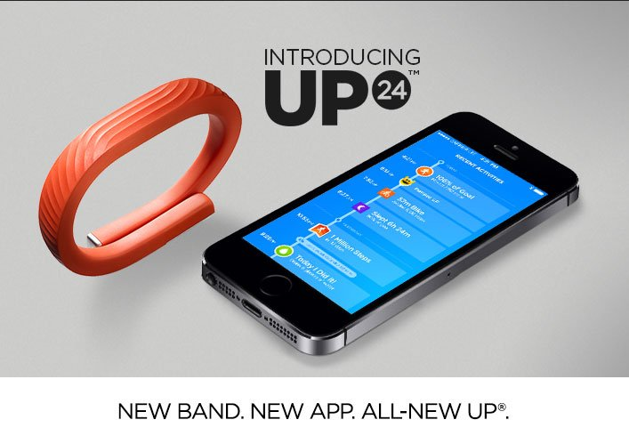 Introducing UP24. New band. New app. All-new UP.