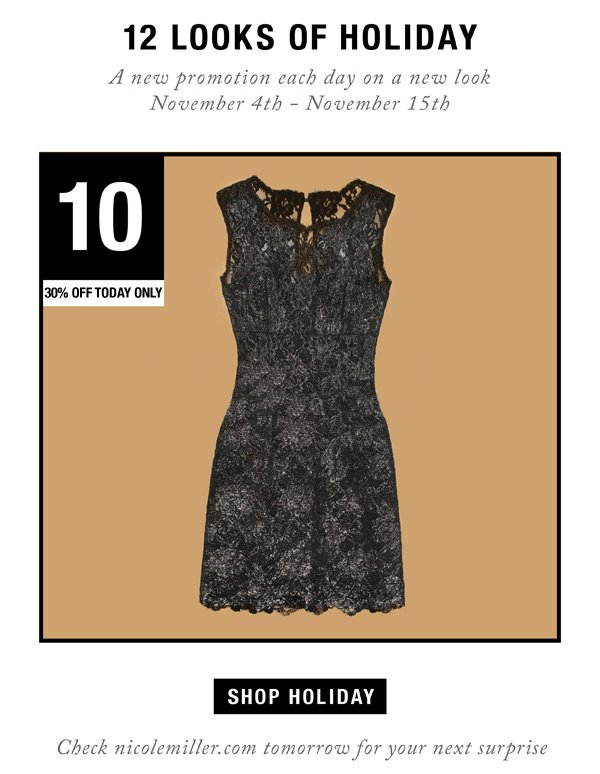 12 Looks of Holiday. Day 10: 30% Off