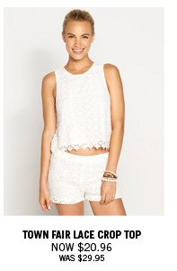 Sleeveless Lace Top Now $20.96 Was $29.95