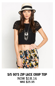 Lace Crop Top Now $18.16 Was $25.95
