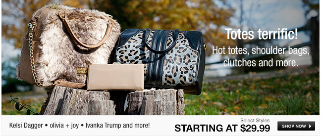 Hot totes, shoulder bags, clutches and more
