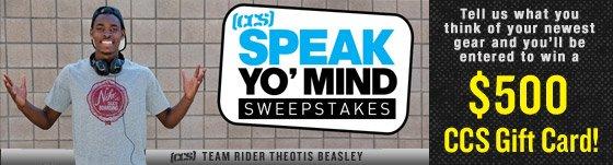 Speak Yo' Mind and Win!