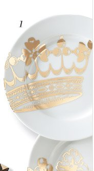 1. Kings Road Dessert Plates - Set of 4 >