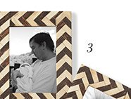 3. Chevron Bone Picture Frames - Set of 2 >