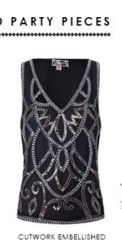 Cutwork Embellished Vest