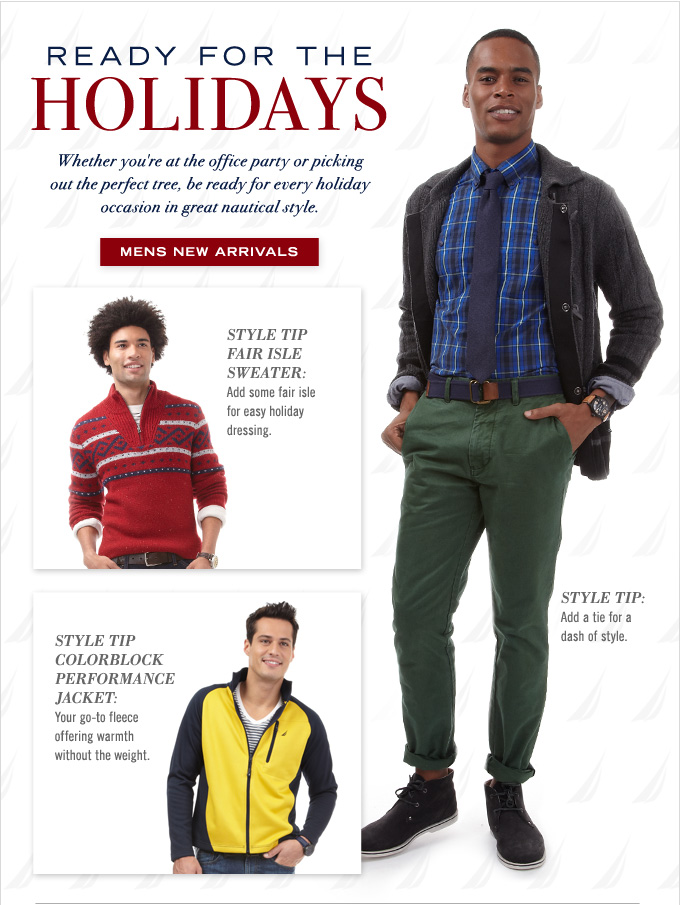 Ready For The Holidays! Shop Men's New Arrivals